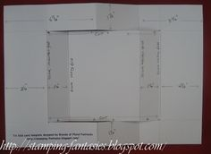 Stamping Fantasies - Tri fold card tutorial (with measurement diagram)As promised here are the instructions to make a tri fold card like the one I posted the other day here and below. Card Making Templates, Card Making Tips, Card Making Tutorials, Tri Fold Cards, Fancy Fold Cards, Folded Cards, Side Step Card, Best Wishes Card, Stepper Cards