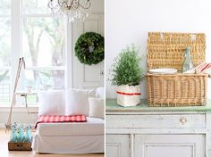 Country christmas decorations, White Christmas, holidays, french style decorating