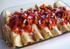 Bean Enchilada [ MexicanConnexionForTile.com ] #food #Talavera #handmade