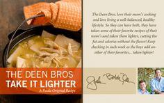 Light Paula Deen Chicken and Dumplings
