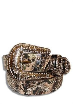 Usually i don't like blingy belts but this is camo with guns... :)