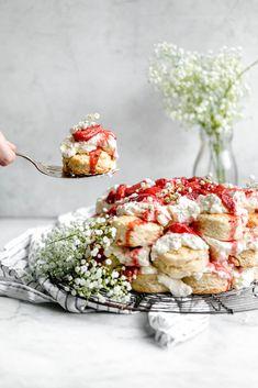 Giant Pull Apart Strawberry Shortcake Cake