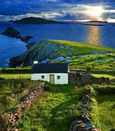 Ireland. I feel like I would be happy living in a tiny house with that view.
