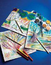 Scratch Art Paper - Rainbow White w/stylus (12 sh SKU-PAS1124190
