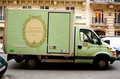Follow that truck!!! Laduree yumminess inside.