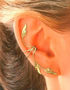 Oreille pleine 3 feuilles Non percé les oreilles par EarCharms