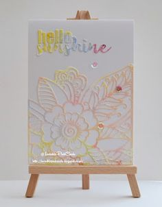 InvisiblePinkCards: Handmade card using watercoloured card and STAMPlorations dies