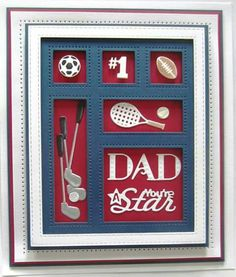 Shadow Boxes Collection You're A Star Die-Sue Wilson Dies - Shadow Box Collection - You're A Star Accessory This set is called You're A Star and will be so useful for those men in your lives. In China, Shadow Box, Paper Cards, Men's Cards, Golf Cards, Spellbinders Cards, Sue Wilson, Birthday Cards For Men, Men Birthday