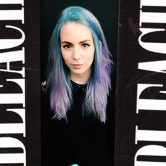 Late night hair using #bleachBLULLINI and diluted #bleachBRUISEDVIOLET Shop the look: http://shop.bleachlondon.co.uk/collections/frontpage/products/bleach-super-cool-colours-blullini