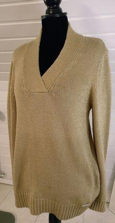 Goldener Pullover - mit herausnehmbaren Schulterpolster