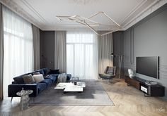 TOL'KO INTERIORS / Luxurious apartment at Krestovskiy island - Галерея 3ddd.ru