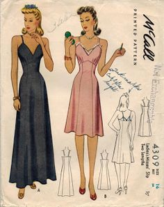 The Midvale Cottage Post: Scraps from the Past: 1940s Silky Pink Lingerie