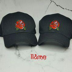 Red rose black hat patches patch Coachella bohemian Hat Patches 11d3d5161f69