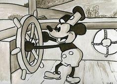 Vintage Cartoons | Painting Vintage Mickey Mouse - Cartoon Illustrations