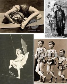 Channel some vintage circus performers