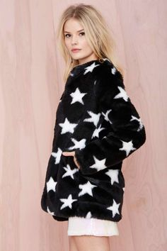 Stargazer Faux Fur Coat -  | Jackets + Coats