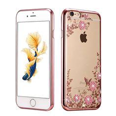 Neue strass luxuxüberzug tpu silikon case für iphone 7 fällen plus für iphone 6 fällen 6 s plus 5 s 5 case zurück abdeckung