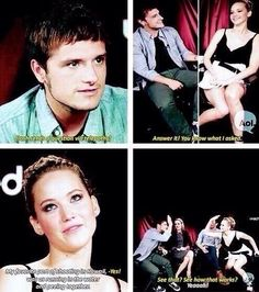 Jennifer Lawrence And Josh Hutcherson Have The Best Friendship Ever… This is one of my fav interviews of the hunger games cast :) Hunger Games Cast, Hunger Games Catching Fire, Hunger Games Trilogy, Hunger Games Humor, Josh Hutcherson, Juegos Del Ambre, Tribute Von Panem, Logan Lerman, Best Friendship