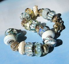 Gorgeous Serenity Summersday glass beads By Annchen Von Kueste
