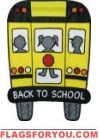 Back to School Bus Applique House Flag