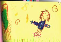 Beeldende Vorming Marnix Academie: Kindertekeningen; Annette