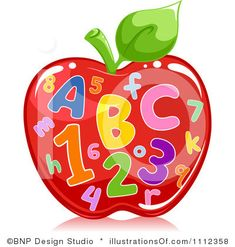 Letters : Text Illustration of an Apple Filled with Letters and Numbers Stock Photo Rock Crafts, Diy And Crafts, Crafts For Kids, Alphabet For Kids, Alphabet And Numbers, Apple Clip Art, Cartoon Garden, Dibujos Pin Up, Pin Up Drawings