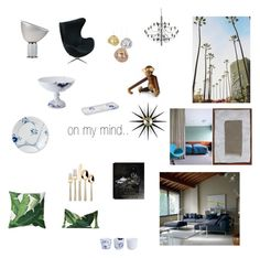"""On my mind.."" by malinandersson on Polyvore featuring interior, interiors, interior design, home, home decor, interior decorating, Royal Copenhagen, Flos, Threshold and Vitra"