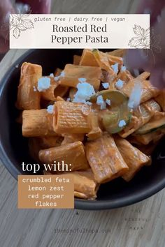 Roasted Red Pepper Pasta, Roasted Red Peppers, Sauteed Zucchini, Vegan Roast, Caramelized Onions, Vegan Dinners, How To Cook Pasta, Pasta Dishes, Summer Recipes