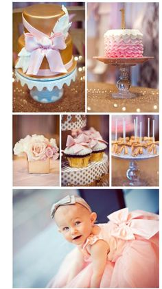 glamourous-1st-first-birthday-party-pink-gold-girl-ideas-decorations-cake-feathers-bows