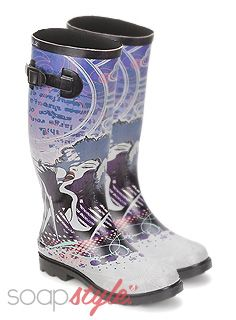 115c03a8bdb SoapStyle Festival Fashion    Illustrated Wellies    April  13