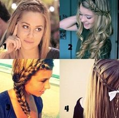 Four really cute hair ideas for back to school!
