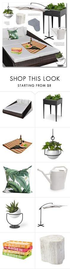 """""""Outdoor Comfort Zone; Lov Dock"""" by defivirda ❤ liked on Polyvore featuring interior, interiors, interior design, home, home decor, interior decorating, Umbra, Seletti, Serena & Lily and Majestic Home Goods"""