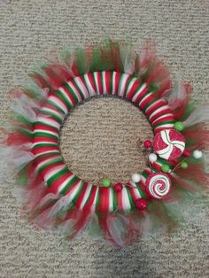 Christmas tutu wreath