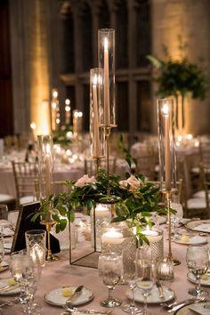 Candle Wedding Centerpieces, Wedding Reception Decorations, Centerpiece Ideas, Candlestick Centerpiece, Floating Candles Wedding, Wedding Reception Design, Wedding Tables, Centrepieces, Wedding Receptions
