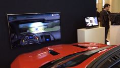 Intel shows off new tech that monitors a driver's eyes to warn about road obstacles with a Jaguar F-Type #CES2015