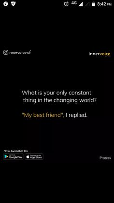 Yaa true which is never going to change❤nozekb Best Friend Quotes Funny, Besties Quotes, Sister Quotes, Funny Quotes, Dear Best Friend, Bestest Friend, Real Friendship Quotes, All That Matters, Teenager Quotes