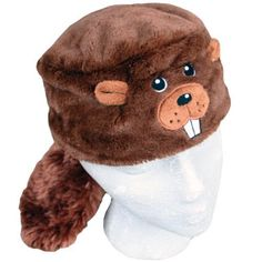 Child Faux Fur Beaver Animal Hat Cap, Small, Children Kids, Brown, Lined -- Continue to the product at the image link.