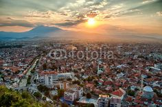 Sunset at Prizren city