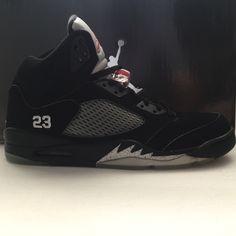 DS Nike Air Jordan 5 V Metallic Black Size 13