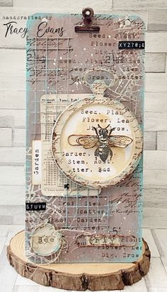 Tracy Evans: Mixed Media Honeybee Plaque