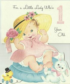 Vintage 1960's Die Cut Birthday Greeting Card