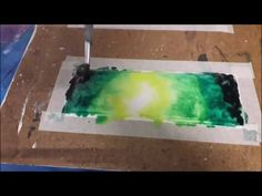 Hello :) This is a painting of a galaxy bookmark. Materials used: Fabriano mix media paper Sakura koi watercolors Watercolor Round Brush Taklon size 12 Sakura Koi Watercolor, Watercolor Galaxy, Green Galaxy, Mixed Media, Make It Yourself, Youtube, Painting, Art, Art Background