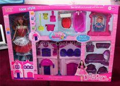 ของเล่นเด็กพร้อมส่ง - เซตบ้าน พร้อมตุ๊กตา ~ 499.00 บาท >>