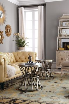 Color trend: buttery yellow/gray duo.