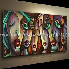 Art Buyers Classical Background Free Shipping Wall Decoration Art Paintings Urban Expression Modern Art Contemporary