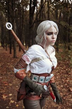 Cirilla - The witcher - Sadness by TophWei female fighter ranger rogue thief assassin cosplay costume LARP LRP leather armor clothes clothing fashion player character npc | Create your own roleplaying game material w/ RPG Bard: www.rpgbard.com | Writing inspiration for Dungeons and Dragons DND D&D Pathfinder PFRPG Warhammer 40k Star Wars Shadowrun Call of Cthulhu Lord of the Rings LoTR + d20 fantasy science fiction scifi horror design | Not Trusty Sword art: click artwork for source