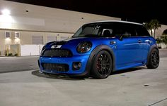 Mini Cooper S Tuning Kit John Cooper Works blue and white + blacks rims!