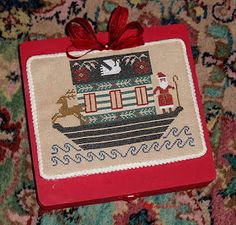 """Stitched by BlackSheepSite.Blogspot from Prairie Schooler Book #32, """"Christmas Ark"""" - I think I'll have to do this one."""