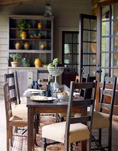 rustic porch Kathleen Rivers design