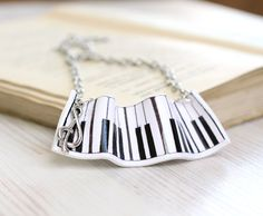 Pendant made of polymer clay Piano  Free by VisitingCINDERELLA